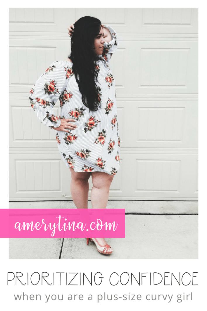 Prioritizing confidence when you're a plus size curvy girl | lisaalfaro.com #amerytina #confidence #plussize #curvy