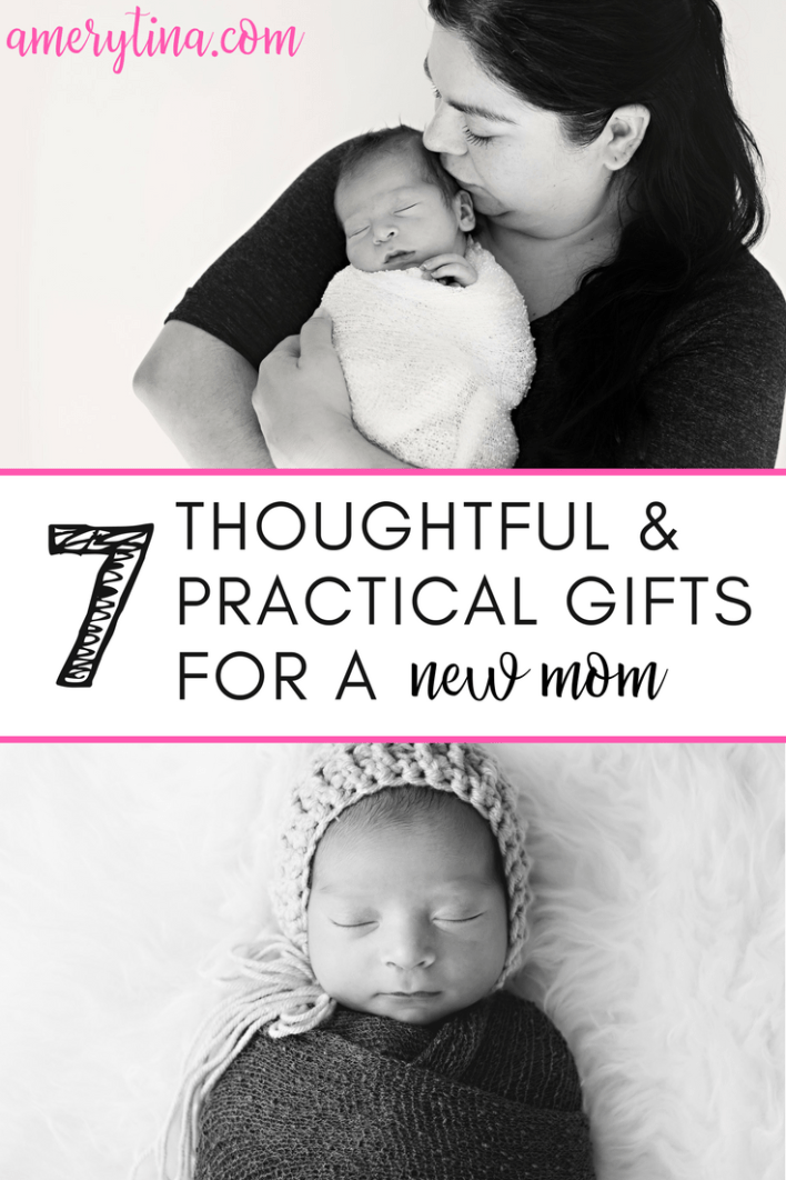 7 thoughtful and practical gifts for a new mom | #giftguide #newmom #newborn #giftsforher