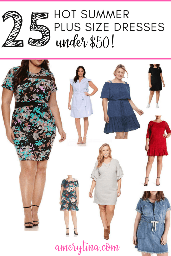 25 hot summer plus size dresses under $50! #plus #curvy #style #shopping #dresses #summerstyle #resortwear