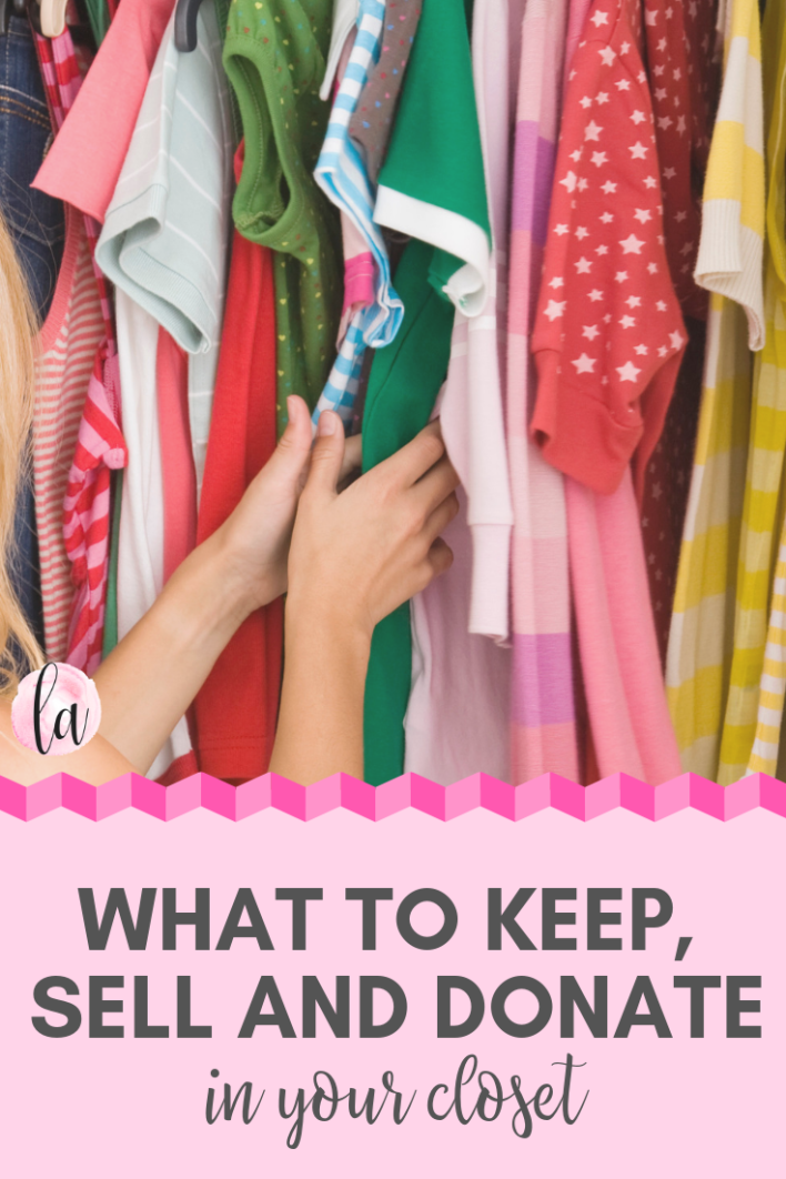 What to keep, sell and donate in your closet to keep you feeling stylish all year #my2019edit #wardrobeedit #style #home #inspiration #hacks