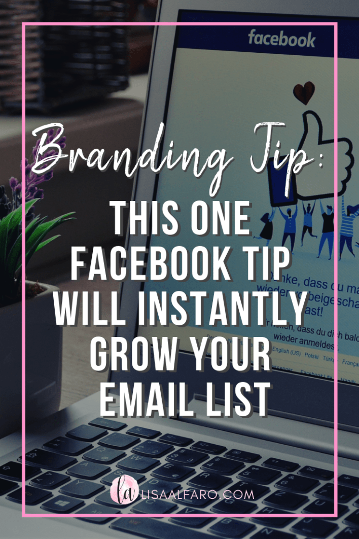 This one Facebook tip will instantly grow your Boutique's email list #email #marketing #socialmedia #boutique #brand