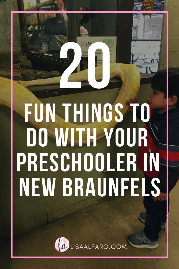20 fun things to do with your preschooler in New Braunfels #nbtx #sanantonio #texas #travel #thingstodo #activity #centex