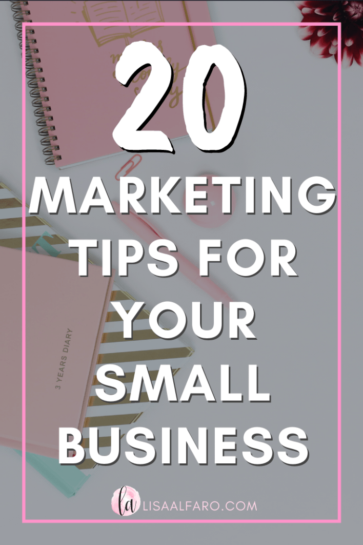 20 marketing tips for your small business