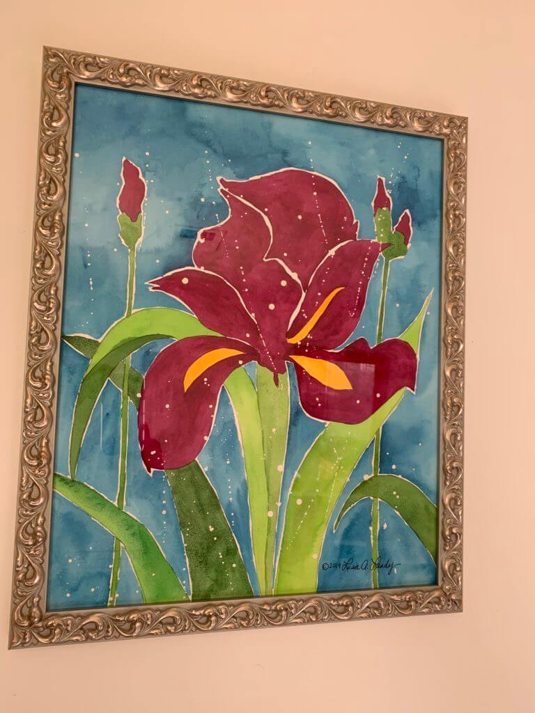 What to do when life gets hard: flower painting.