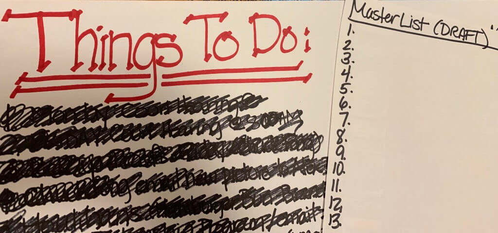 To do list to be more productive
