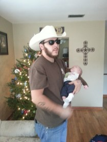 a cowboy and his son!