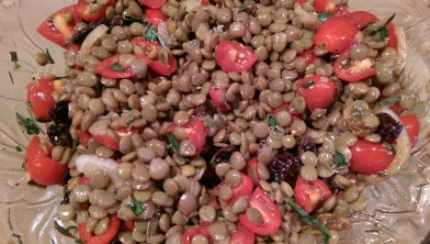 Lentil Raisin salad with tarragon