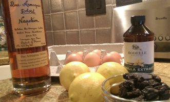 Lemon pound cake ingredients
