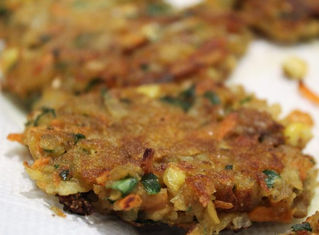 Vegetable Fritters with Mango Chutney2