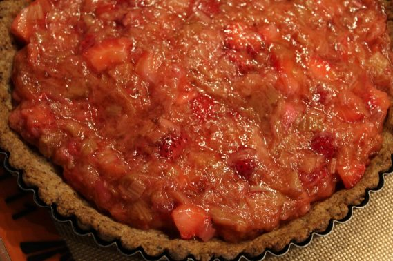 Rhubarb Tart with Walnut Crust7