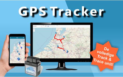 GPS tracker. Track and Trace unit, eenvoudig zelf te installeren met OBD stekker
