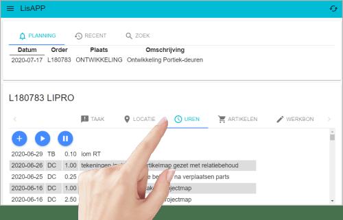 urenregistratie via LisAPP, snel en gemakkelijk
