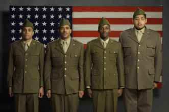"""MIRACLE AT ST. ANNA"" Left to right: MICHAEL EALY, LAZ ALONSO, DEREK LUKE, OMAR BENSON MILLER Ph: David Lee ©2008 Buffalo Soldiers In Italy, LLC - ON My Own Produzioni Cinematografiche S.R.L."