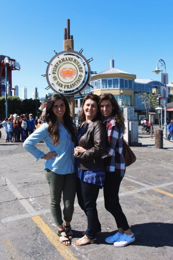 My sister, mother, and me in San Francisco, CA.