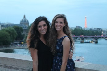 Finally a good picture together, with the Eiffel Tower.