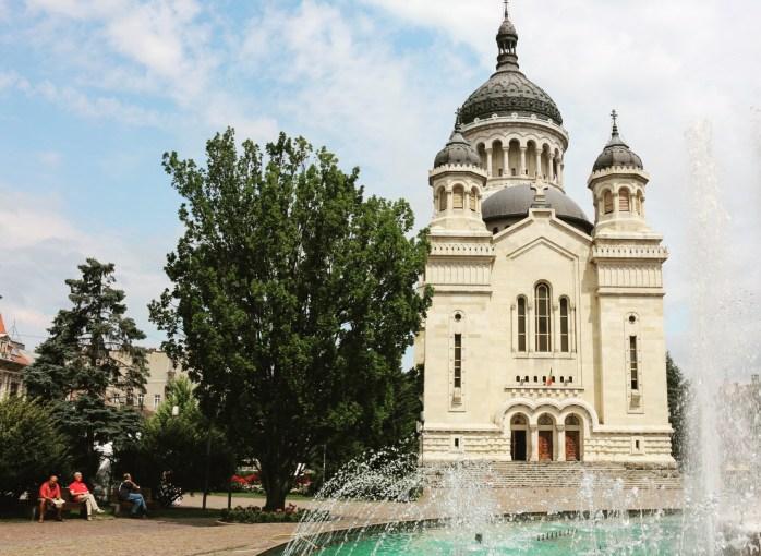 The Orthodox church in Piata Nvram Iancu, Cluj-Napoca, Romania.