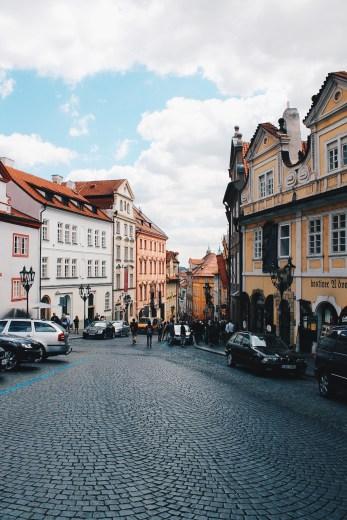 Walking down the streets of Prague, Czech Republic.