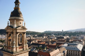 The view from the tower of St. Stephen's Basilica.
