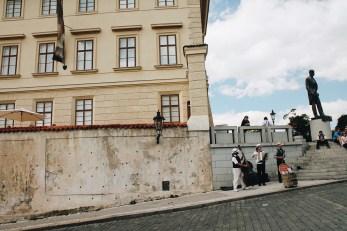 Street life in Prague.