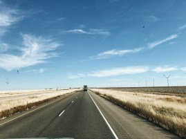 The wide open highway of Oklahoma.