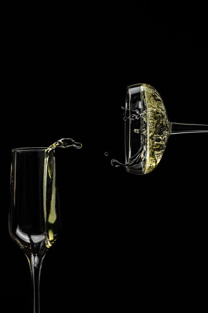 Zwei Gläser Champagner stillleben