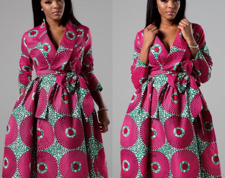 African Print Dress - Ankara Midi Dress