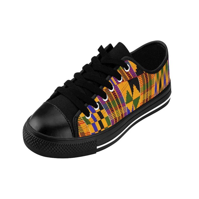 Kente Print Men's Sneakers Ankara print sneakers african print sneakers.