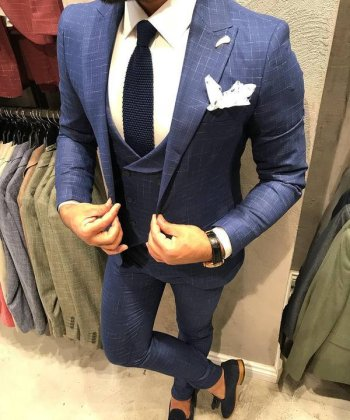 Mens Suit, 3 Piece Suit, Double Breasted Waistcoat