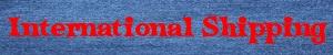 International Shipping label