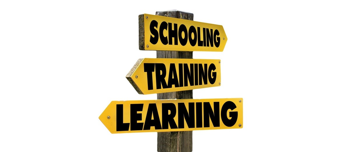 Street Sign - Education-Training-Learning