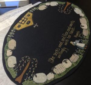 Flax Farm 18x28 Designed by Lisa Bongean Primitive Gatherings Kit/Pattern $65 Pattern $12