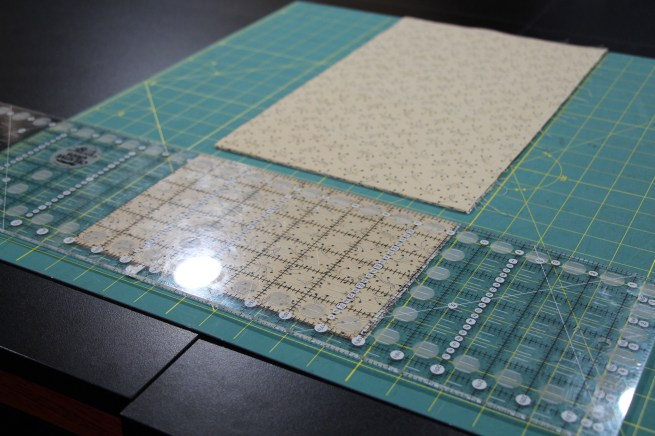 "I will be cutting 1 1/2"" squares here...I cut a 6"" cut..."