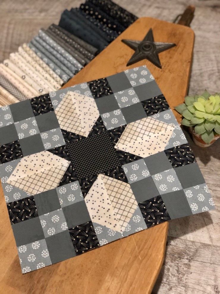 Blockhead Block Quilt Along featured by top US quilting blogger, Lisa Bongean