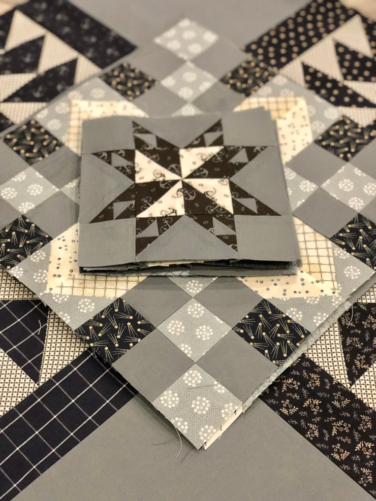 Moda Blockheads 2 Quilt Along Project: Block 12 featured by top US quilting blogger, Lisa Bongean
