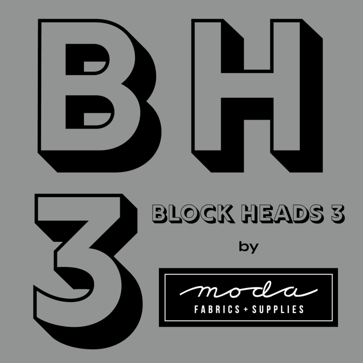 Block Heads Square Logo - Gray