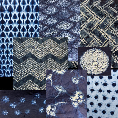 Shibori collage image square