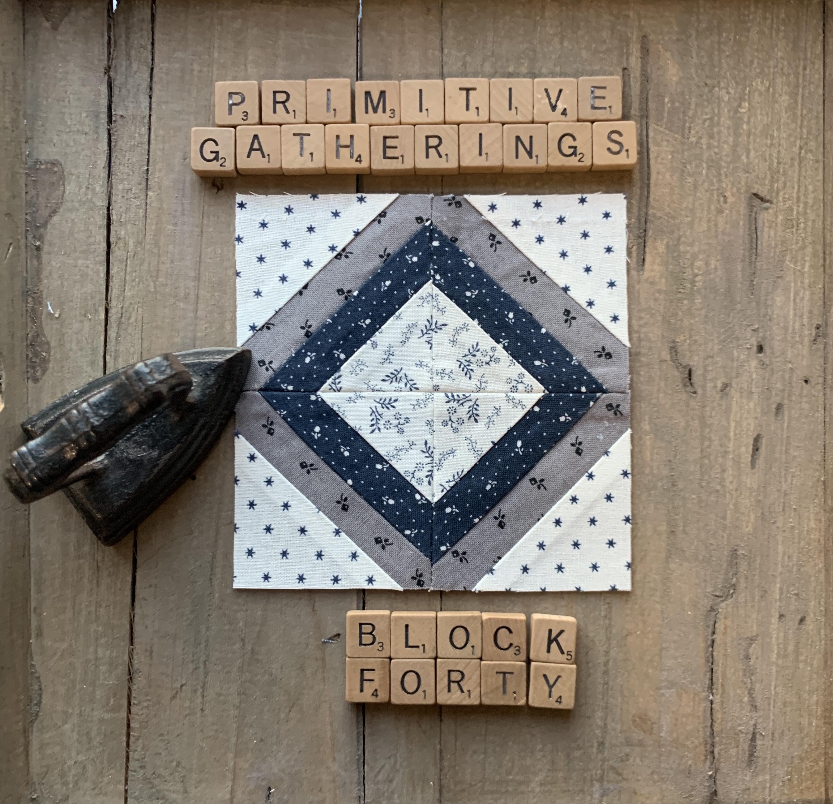 6 Primitive Squares By Day Primitive Stitchery Pattern Think Snow America