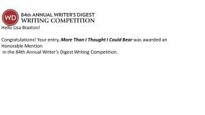 Writer's Digest Award