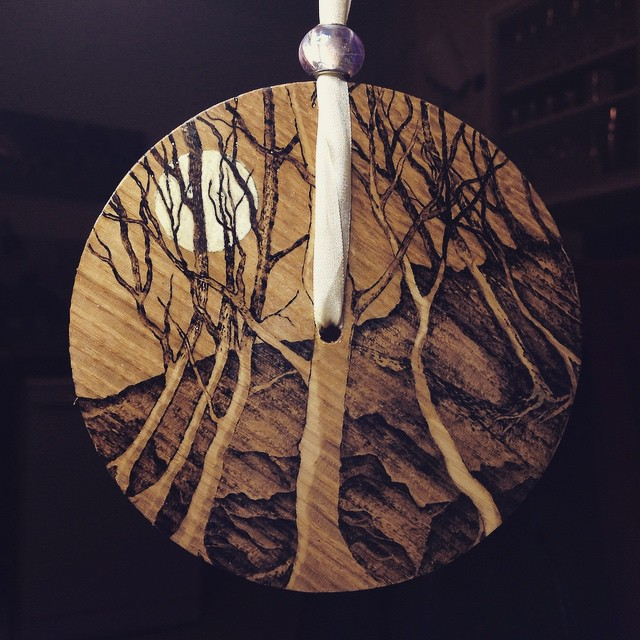 The wood and the trees. #pyrography #wood #burning #creative #catherwood