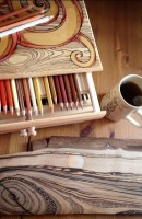 set-to-to-work-some-colour-onto-this-wood-burning.-pyrography-art-pencil-colour-wood