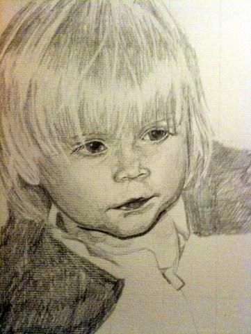 Beau, pencil drawing A4