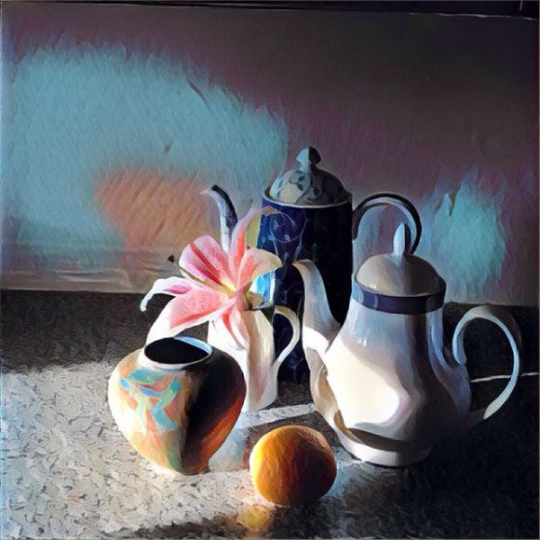 Very inspired by a prog on BBC 4 Apples and Pears and Paint about still life last night. So when the sun shone on the coffee pot this morning I took some photos and took @prisma to the shot before work. I wonder what the great painters would have made of the digital tools we now have in our pockets.