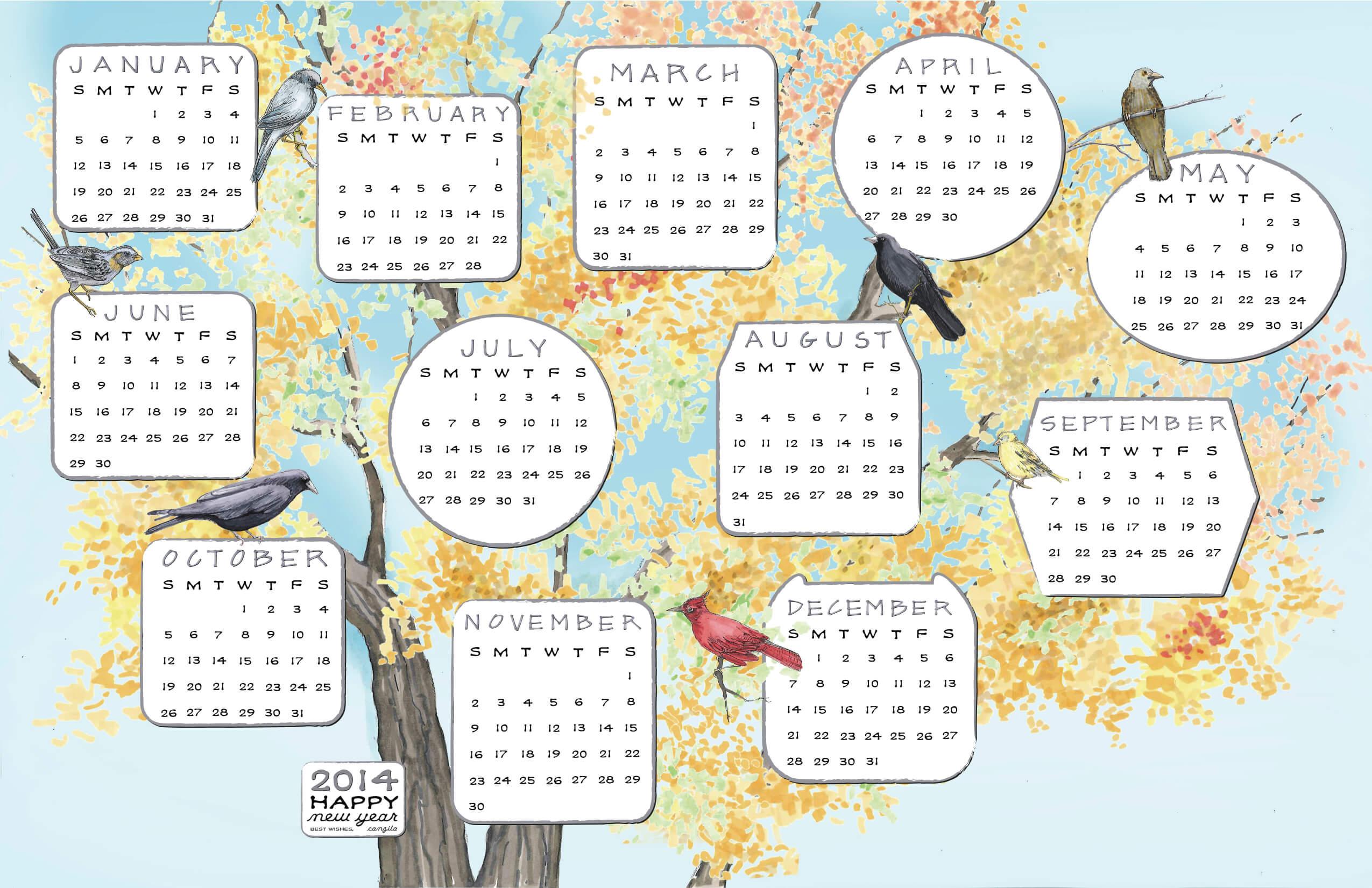 2014 CANZI TREE CALENDAR