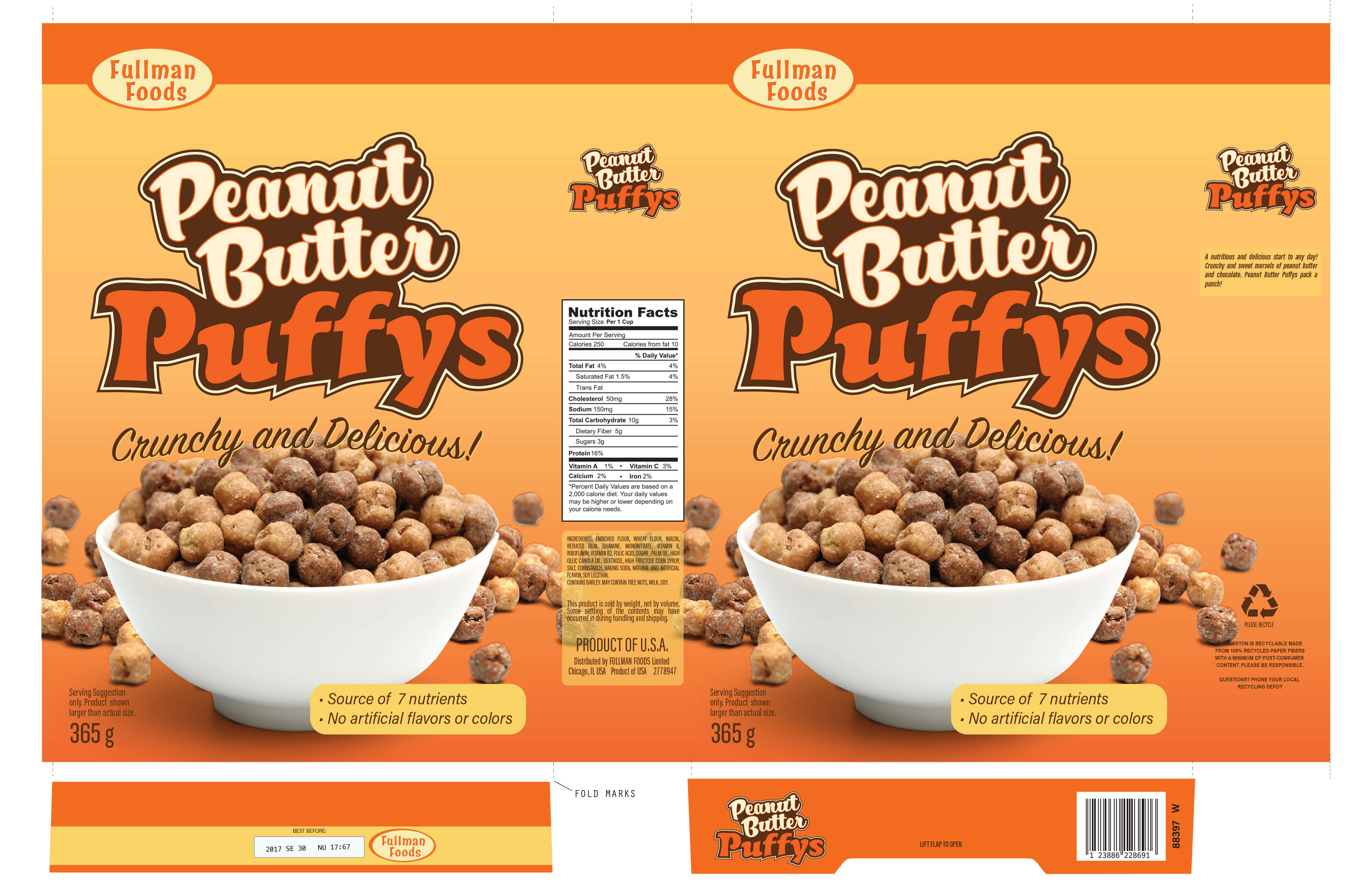 PEANUT BUTTER PUFFYS CEREAL