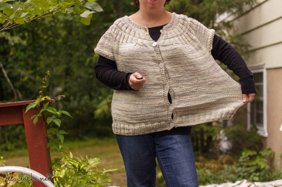My Everyday Cardigan (Cap Sleeve Variation)