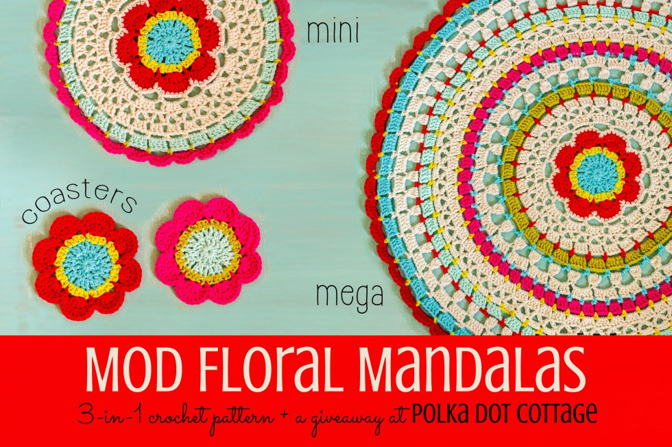 Mod Floral Mandalas at Polka Dot Cottage