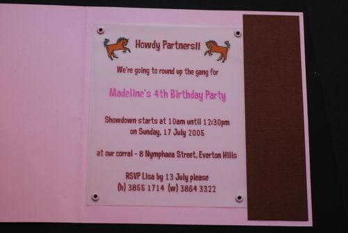 madeline s 4th birthday invitation