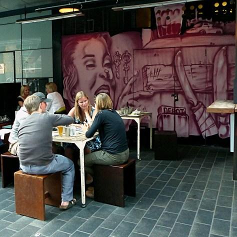 Auckland - New Street Art at Depot Restaurant
