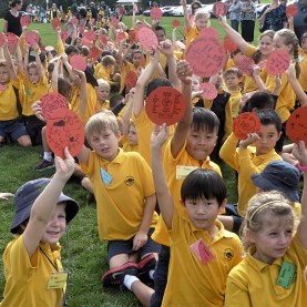 New Zealand - April 2015 - Students With Their Poppy Discs_Copy