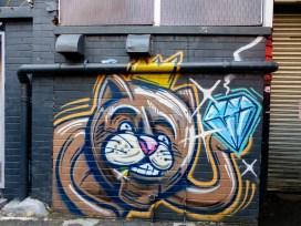 Street Art - Newcastle - October 2015 - Fat Cat - Laman - Artist Unknown